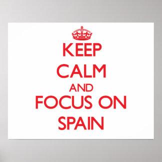 Guarde la calma y el foco en España