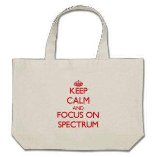 Guarde la calma y el foco en espectro bolsa de mano