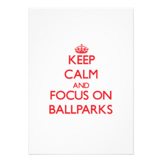 Guarde la calma y el foco en estadios de béisbol comunicado personal