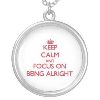 Guarde la calma y el foco en estar bien joyeria