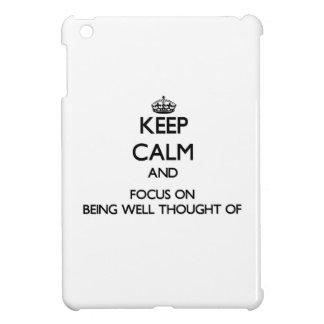 Guarde la calma y el foco en estar Bien-Pensamient