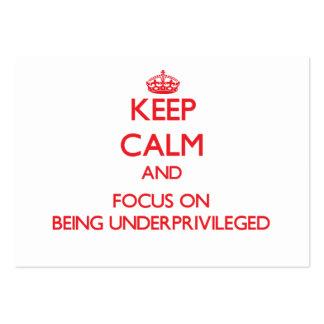 Guarde la calma y el foco en estar desvalido