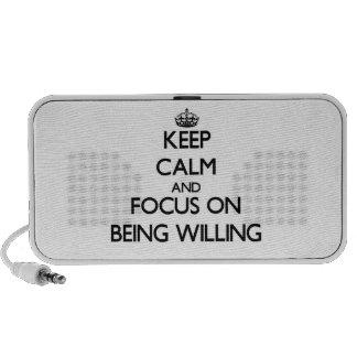 Guarde la calma y el foco en estar dispuesto portátil altavoz