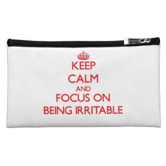 Guarde la calma y el foco en estar irritable