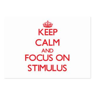 Guarde la calma y el foco en estímulo