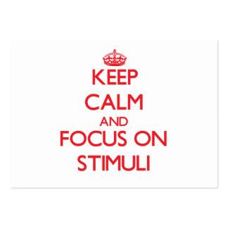 Guarde la calma y el foco en estímulos
