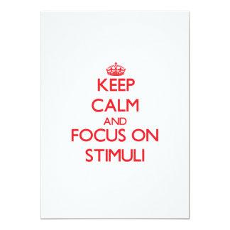 """Guarde la calma y el foco en estímulos invitación 5"""" x 7"""""""