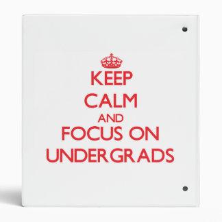 Guarde la calma y el foco en estudiantes