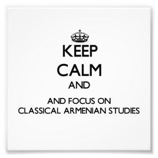 Guarde la calma y el foco en estudios armenios arte fotográfico