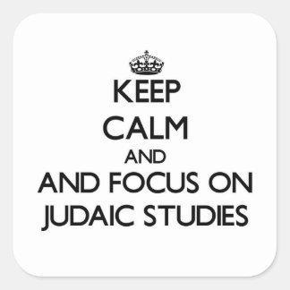 Guarde la calma y el foco en estudios judaicos colcomania cuadrada