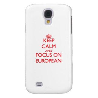 Guarde la calma y el foco en EUROPEO
