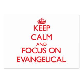 Guarde la calma y el foco en EVANGELICAL Plantilla De Tarjeta Personal