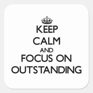 Guarde la calma y el foco en excepcional