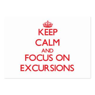 Guarde la calma y el foco en EXCURSIONES Tarjetas De Visita Grandes