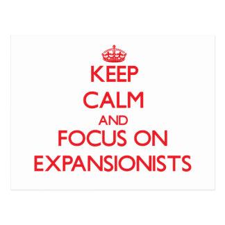 Guarde la calma y el foco en EXPANSIONISTA Postal