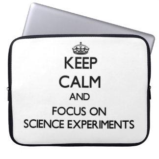 Guarde la calma y el foco en experimentos de la ci fundas ordendadores