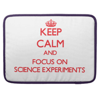 Guarde la calma y el foco en experimentos de la fundas para macbooks
