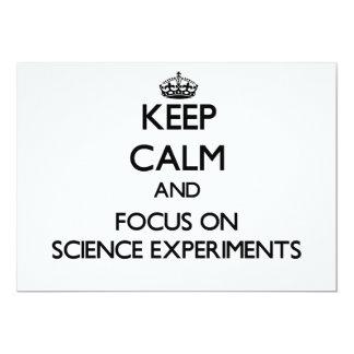 Guarde la calma y el foco en experimentos de la invitación 12,7 x 17,8 cm