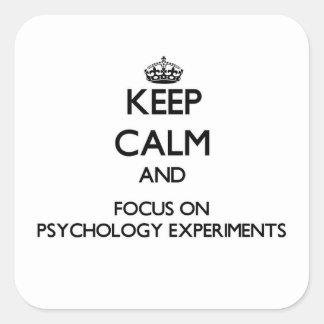 Guarde la calma y el foco en experimentos de la