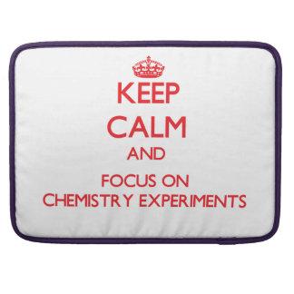 Guarde la calma y el foco en experimentos de la qu