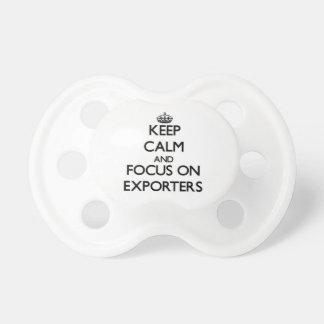 Guarde la calma y el foco en EXPORTADORES Chupetes Para Bebes