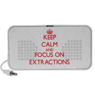 Guarde la calma y el foco en EXTRACCIONES PC Altavoces
