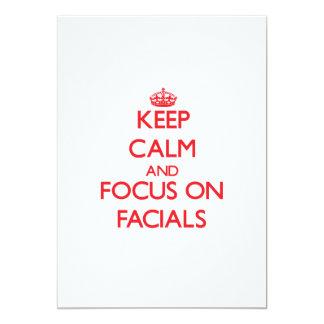 Guarde la calma y el foco en Facials Invitación 12,7 X 17,8 Cm