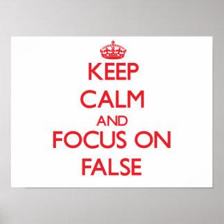 Guarde la calma y el foco en falso