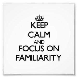 Guarde la calma y el foco en familiaridad fotografías