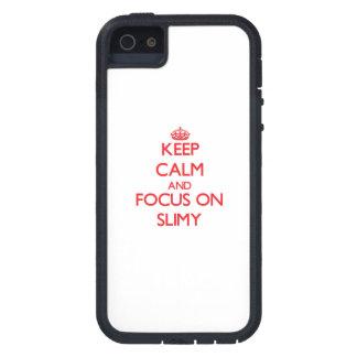 Guarde la calma y el foco en fangoso iPhone 5 cárcasa