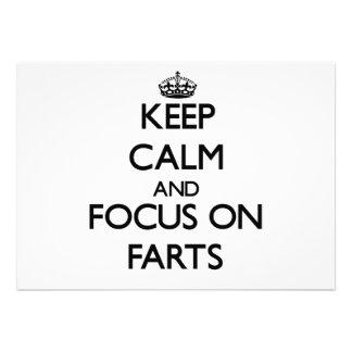 Guarde la calma y el foco en Farts