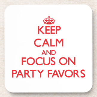 Guarde la calma y el foco en favores de fiesta