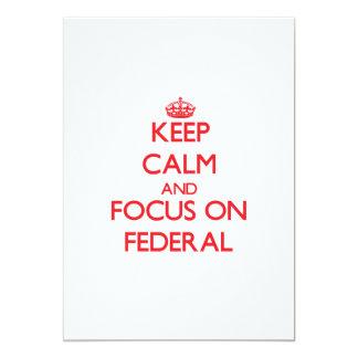 Guarde la calma y el foco en federal invitación personalizada