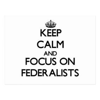Guarde la calma y el foco en federalistas postal