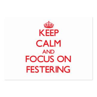 Guarde la calma y el foco en Festering Tarjetas De Visita Grandes