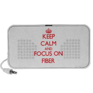 Guarde la calma y el foco en fibra iPhone altavoces