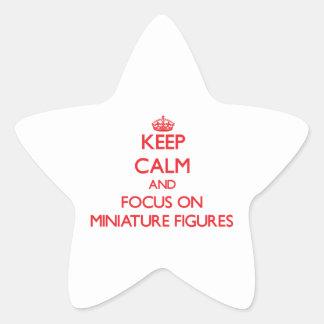 Guarde la calma y el foco en figuras miniatura colcomanias forma de estrella personalizadas