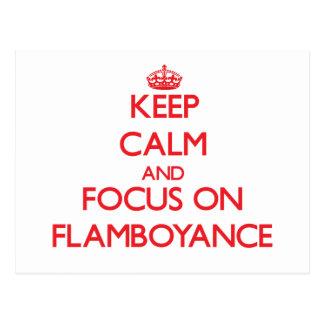 Guarde la calma y el foco en Flamboyance Postales