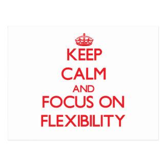 Guarde la calma y el foco en flexibilidad