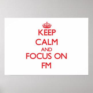 Guarde la calma y el foco en Fm Impresiones
