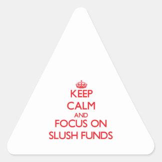 Guarde la calma y el foco en fondos de aguanieve colcomanias trianguladas personalizadas