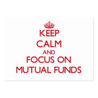 Guarde la calma y el foco en fondos mutuos tarjetas personales