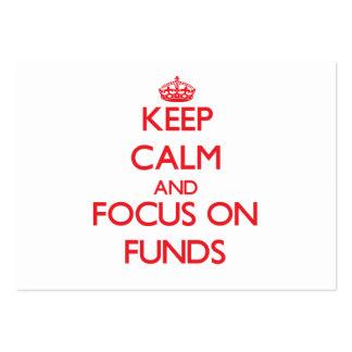 Guarde la calma y el foco en fondos tarjeta de visita