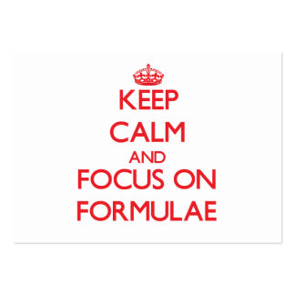 Guarde la calma y el foco en fórmulas tarjetas de visita grandes