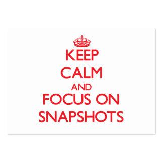Guarde la calma y el foco en fotos tarjetas de visita