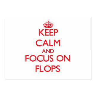 Guarde la calma y el foco en fracasos