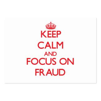 Guarde la calma y el foco en fraude tarjetas de visita grandes