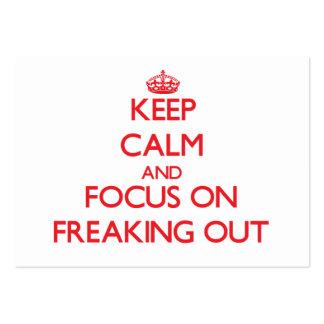 Guarde la calma y el foco en Freaking hacia fuera Tarjetas De Visita Grandes