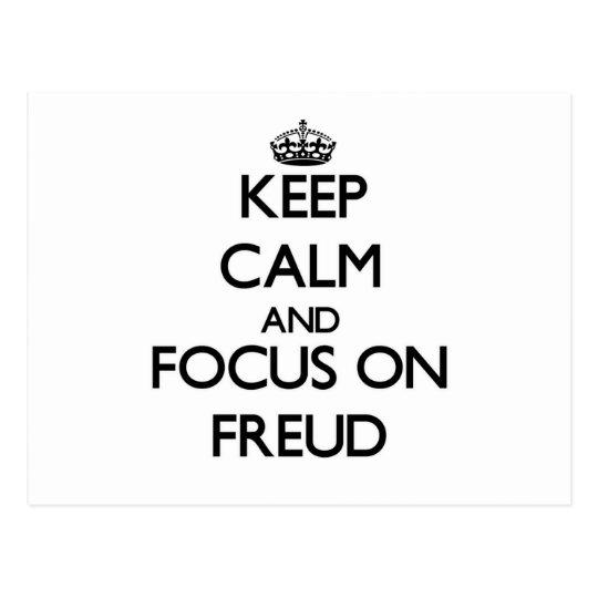 Guarde la calma y el foco en Freud Postales
