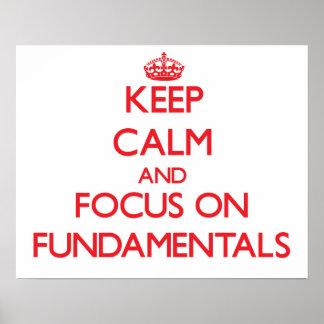 Guarde la calma y el foco en fundamentales poster